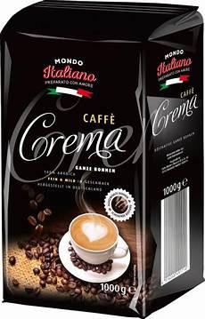 mondo italiano caffe crema ganze bohnen 1 kg netto