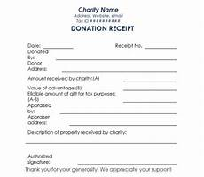 tax receipts for charitable donations 16 donation receipt template sles templates assistant