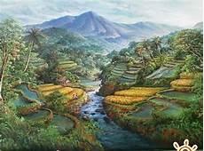 Gambar Lukisan Alam Dengan Pensil Gambar Lukisan Alam