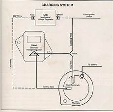 wiring diagram of voltage regulator charging alternator problem for a bodies only mopar