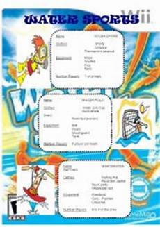 water sports activity worksheets 15751 water sports worksheet by mauricio lozano