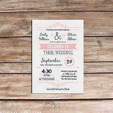 vintage rustic diy wedding invitation template