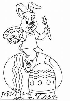 Ausmalbilder Osterhase Mit Eier Ausmalbilder Osterhasen Osterhase Bemalt Eier Zum Ausdrucken