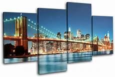 new york skyline bridge city multi canvas wall picture