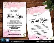 thank you card editable template editable thank you card