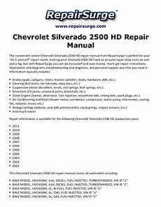 download car manuals 1998 gmc suburban 2500 engine control chevrolet silverado 2500 hd repair manual 2001 2011
