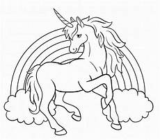 unicorn with rainbow coloring pages to print for