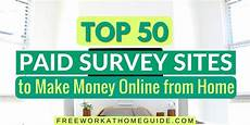 top 50 paid survey to make money from home