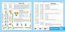 sports day activity worksheets 15749 sports day differentiated comprehension worksheets