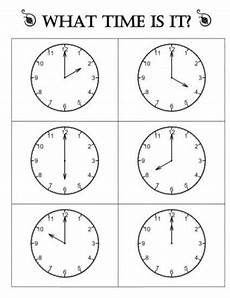 telling time by the hour worksheets for kindergarten 3602 pin on time