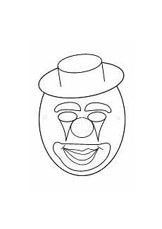 clown malvorlagen ausdrucken selber machen masken basteln maskenvorlagen pdf drucken