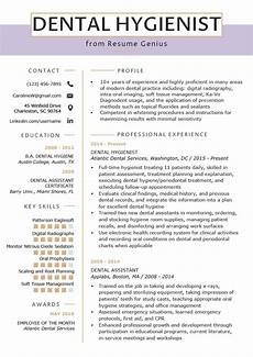 resume template for dental hygienist dental hygienist resume exle writing tips resume genius