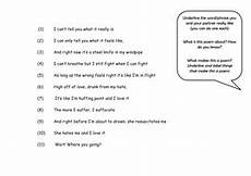 poetry worksheets for ks3 25471 ks3 poetry starter fantastic way to engage students who claim to poetry