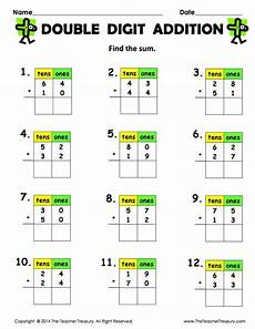 regrouping addition 2nd grade free printable digit addition without regrouping