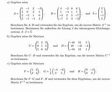 inverse matrix bestimmen mithilfe a b mathelounge