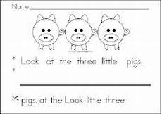 rhyming worksheets 18447 three pigs sequence putting the story in order of what happened projects to try
