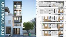 5 story narrow house plan with 7 bedrooms plot 3 9x17 3 meter youtube