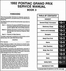 service and repair manuals 1979 pontiac grand prix engine control 1992 pontiac grand prix repair shop manual 3 volume set 92 original service oem ebay
