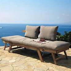 divanetto da giardino divanetto da giardino modulabile in acacia 3 posti relax