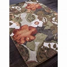 jaipur rugs modern floral pattern brown orange wool area