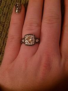black white and chocolate diamond engagement ring weddingbee photo gallery