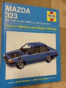 car maintenance manuals 1989 mazda familia lane departure haynes mazda 323 march 1981 to oct 1989 owners workshop manual ebay