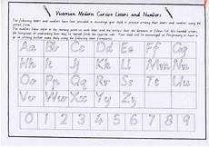 victorian modern cursive letters and numbers