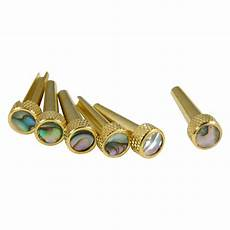 D Andrea Tp2a Acoustic Guitar Tone Pins Gold Brass Bridge