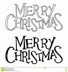 merry christmas text vector lettering isolated stock vector illustration of decorative
