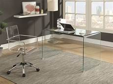 glass home office furniture clear tempered glass 801581 bent glass modern desk in 2020