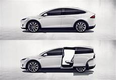 tesla model y doors fictional concept sliding quot falcon wings quot for model y