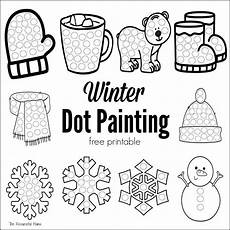 winter toddler worksheets 20108 winter dot painting free printable coloring pages winter winter winter crafts for