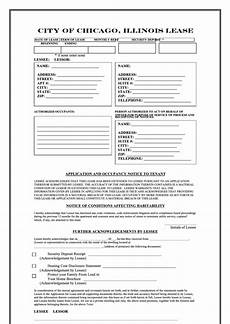 fillable city of chicago illinois lease printable pdf download