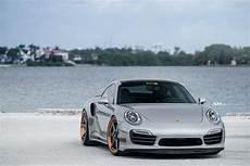 silver porsche 991 turbo s adv6 track spec standard forged wheels matte black rose gold