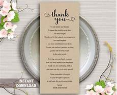thank you place cards template printable thank you place card wedding thank you card