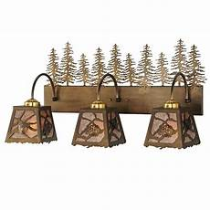 Lodge Bathroom Vanity Lights by Rustic Pines Vanity 3 Light Fixture Cabin Place