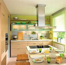 Decorating Ideas For Small Kitchen by Green Paint And Kitchen Accessories Small Kitchen