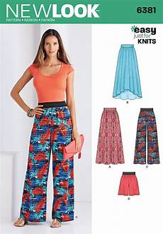 New Look Easy Sewing Pattern 6381 Jersey Knit
