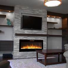 Wall Mounted Fireplace sydney 50 inch pebble recessed pebble wall mounted