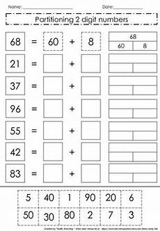 subtraction worksheets partitioning 10224 partitioning 2 digit numbers by tarrific teaching tpt