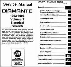 car repair manual download 1998 mitsubishi diamante spare parts catalogs 1992 1996 mitsubishi diamante repair shop manual set original