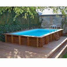 piscine en bois trait 233 marbella l 4 27 x l 2 72 m sunbay