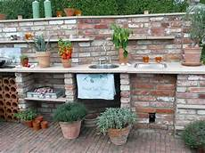 küche selber mauern outdoork 252 che aus historischen klinkern mit green egg grill