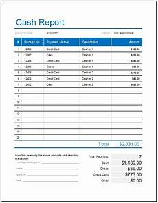 daily cash report template for ms excel word excel