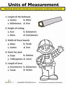 units of measurement worksheet education com