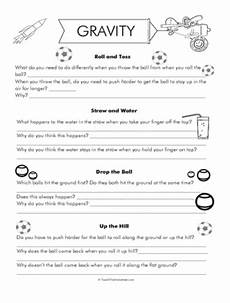 gravity worksheets gravity science gravity experiments