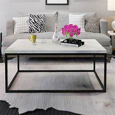 gymax modern rectangular cocktail coffee table metal frame