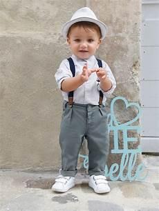 vertbaudet baby set aus hemd und hose jungen in blau