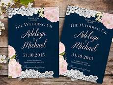 Navy Blue And Pink Wedding Invitations navy blue wedding invitation rustic wedding invitation barn