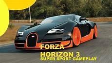 Bugatti Veyron Customization by Forza Horizon 3 Bugatti Veyron Sport Top Speed Run